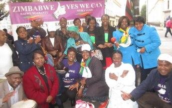 Zimbabwe Vigil activists in London
