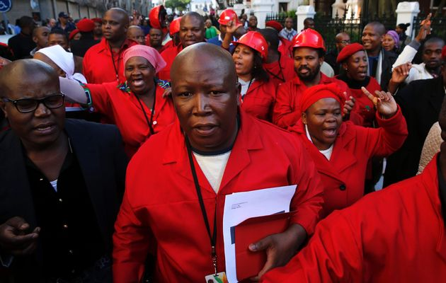 Julius Malema, leader of the opposition Economic Freedom Fighters