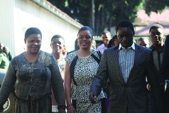 PRICE OF FAME: Sharon (R) and Alick Macheso leaving the Harare Civil Courts following court proceedings recently.