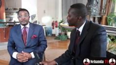 Tourism Minister Walter Mzembi being interviewed by Lance Guma