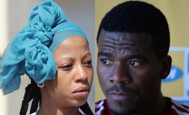 Girlfriend Kelly Khumalo and Senzo Meyiwa