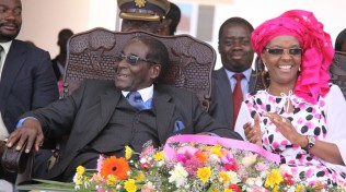President Mugabe and wife Grace at the official opening of the Amai Grace Mugabe Junior School in Mazowe
