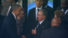 Mr Obama and Mr Castro met a year ago at Nelson Mandela's funeral