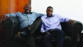 Prophet Abel Mutumwa and Prophet Tendai Chipara (L)