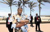 MUTI MOGUL: Michael Andile Dlamini with his bodyguards Sbongiseni Danisa, Senzo Biyela and Bongani Mbambo Image by: JACKIE CLAUSEN