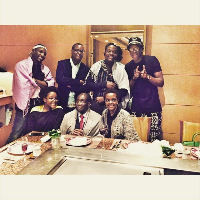 Mugabe family dinner in Singapore