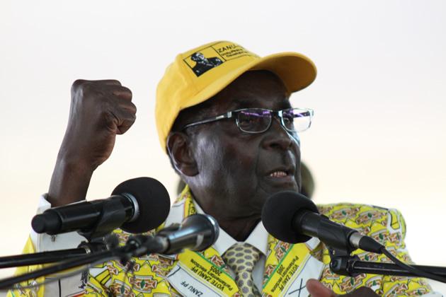 President Mugabe addressing Zanu PF congress