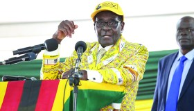 President Robert Mugabe (90) addressing Zanu PF congress