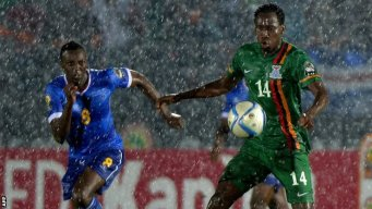Cape Verde & Zambia out after rain-hit game