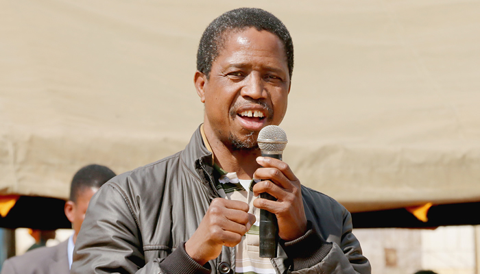 Victor: Ruling party candidate Edgar Lungu