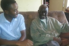 Daily News Sports Reporter Farayi Machamire, left, had a chat with George Shaya at his Glen Norah home last week.