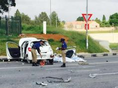 Pictures from William Nicol Road near the N1: The accident that claimed Simba Mhere's life