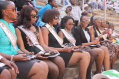 Diamond Queen of Africa contestants follow proceedings at the Zimbabwe Defence Forces celebrations in 2013