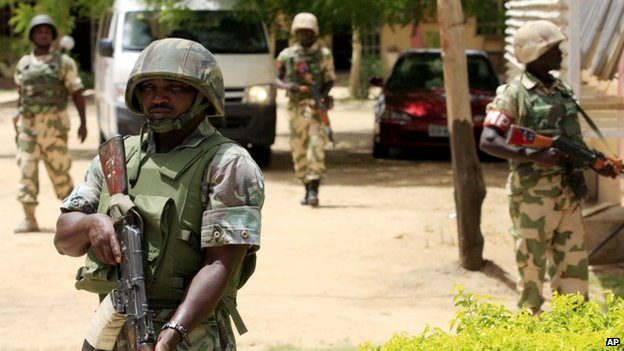The Nigerian military often finds itself on the defensive in the town of Maiduguri, which is frequently the target of Boko Haram attacks