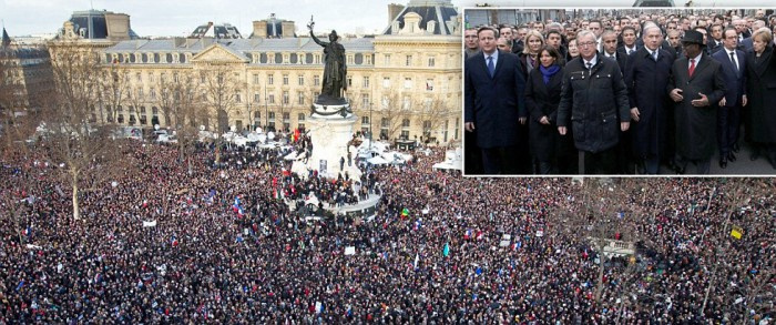 World leaders join 1.5m on Paris terror march