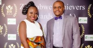 ZAA Executive Director, Brian Nyabunze with songbird Prudence Katomeni-Mbofana who was the headline performer at the ZAA 2014 awards
