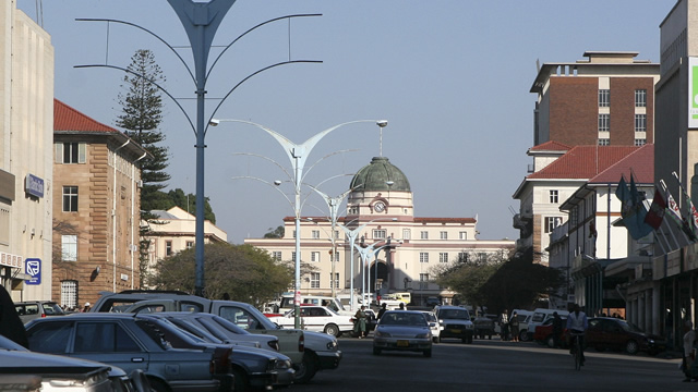 Bulawayo High Court in the background