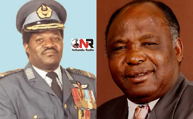 The late Air-Marshal Josiah Tungamirai and former Zanu PF senator, Aguy Clement Georgias, who owns Trinity Engineering