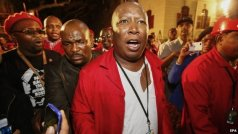 Julius Malema after being thrown out of parliament