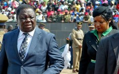Opposition leader Morgan Tsvangirai seen here with wife Elizabeth