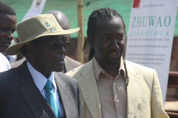 President Mugabe seen here with his nephew Patrick Zhuwao