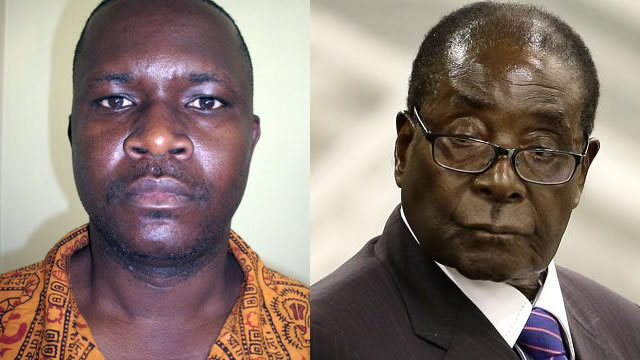 Missing; Congolese national Tsohuka Cosnova Ben (left) and President Robert Mugabe (right)