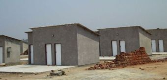File picture of housing stands under construction