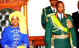 File picture of First Lady Grace Mugabe in parliament alongside army general Constantine Chiwenga