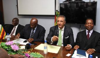 The IMF mission in Zimbabwe meeting senior government officials