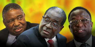 VP Phelekezela Mphoko, President Robert Mugabe and VP Emmerson Mnangagwa