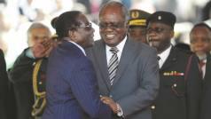 Robert Mugabe seen here with Hifikepunye Pohamba