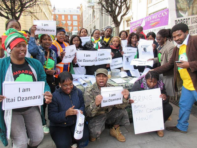Exiles stage Dzamara protest in London