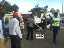 Accident near Christmas Pass Service Station - Mutare (Pictures by Nehanda Citizen Reporter)