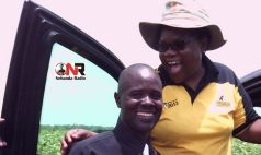 Joice Mujuru with a supporter who had paid her a courtesy call at her farm (Picture by Citizen Reporter)
