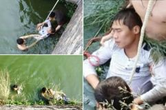 Saved from river: Groom tried to drown himself