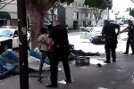 Los Angeles police kill homeless man
