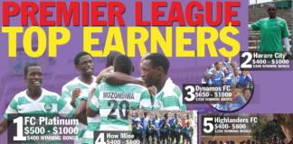 Zimbabwe premier league top earners