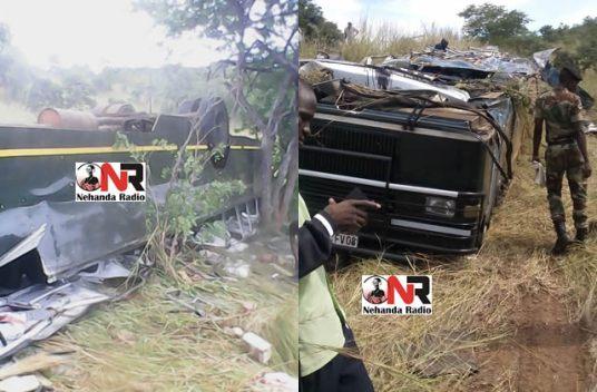 Army bus crash kills 3 near Makuti