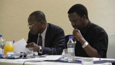 The Flame News is edited by Brian Mangwende (right)
