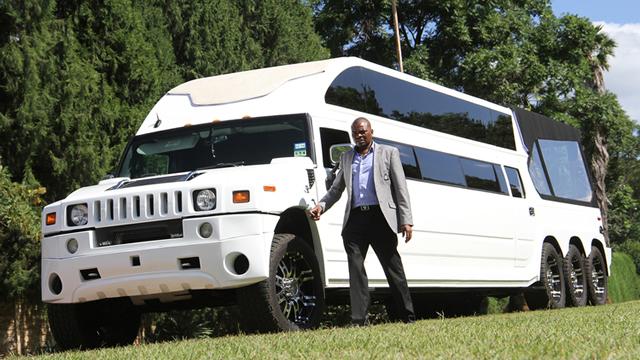 Philip Chiyangwa's latest limo: Picture by Kudakwashe Hunda