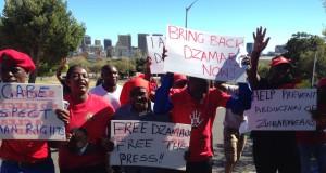 Dzamara protests rock Zim embassy in SA