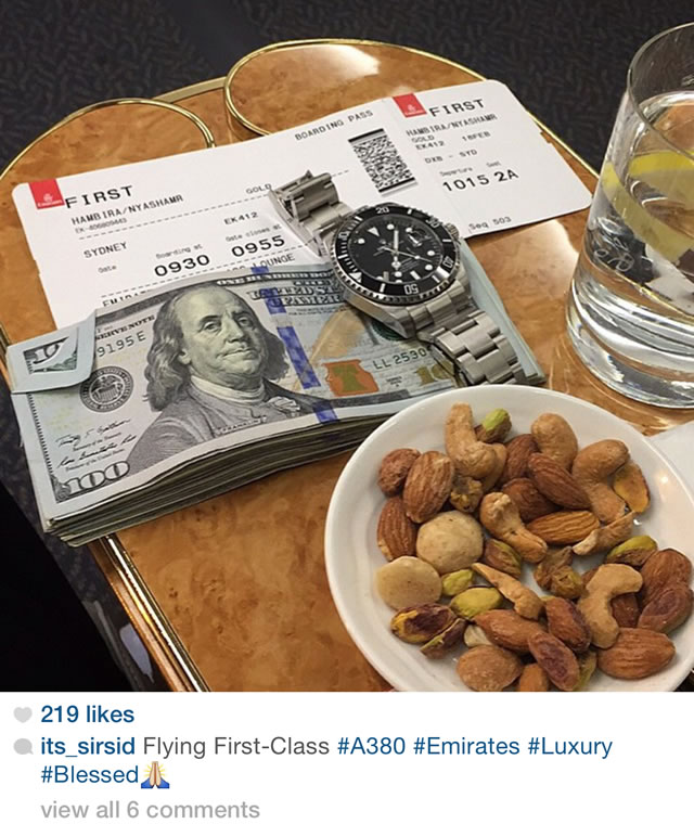 hambira rolex and airticket