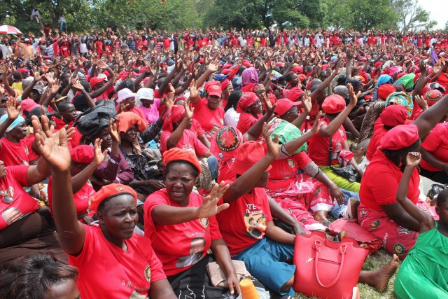 Opposition Movement for Democratic Change (MDC) leader Morgan Tsvangirai held a rally at the Zimbabwe Grounds in Highfield, Harare on Saturday.
