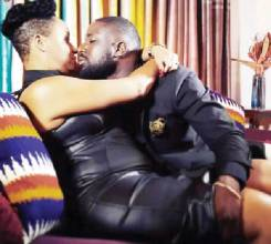 A photo she posted on Facebook at the weekend cuddling with Elikem sent tongues waging as it shows a huge bulge.