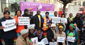 Angry exiled Zimbabweans in the United Kingdom demand Itai Dzamara's release