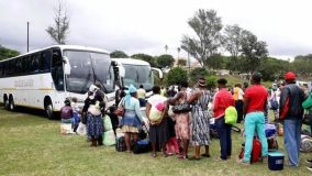 Foreign nationals headed home from Durban to Zimbabwe on Sunday