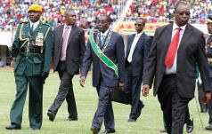 File picture of Mugabe on Independence Day