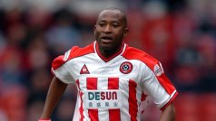 Flying Elephant: Peter Ndlovu when he was playing for Sheffield United in England