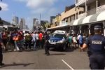 Police in standoff with 2 000 people in Durban CBD