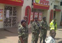 South African shops in Blantyre were under heavy security